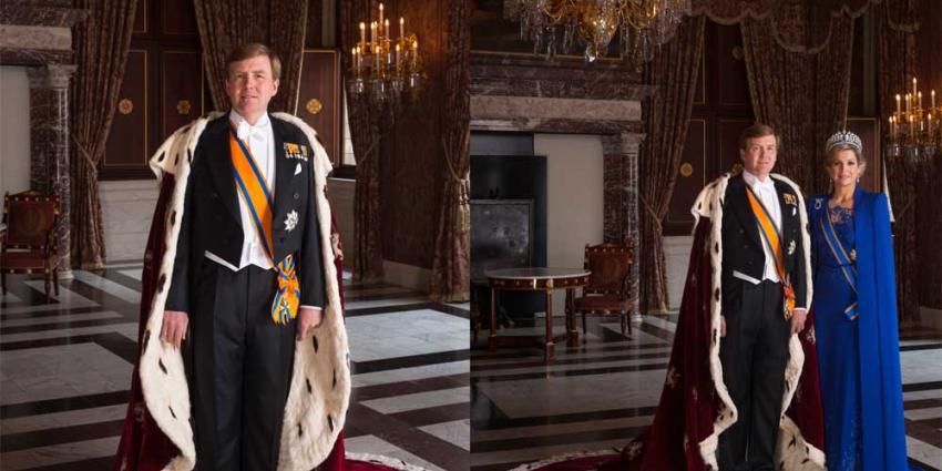 Foto van inhuldigingsmantel koning Willem-Alexander | RVD/Koos Breukel