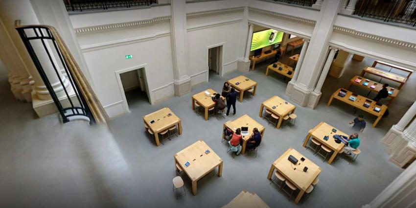 Drie mensen gewond door ontploffen iPad in Apple Store Amsterdam