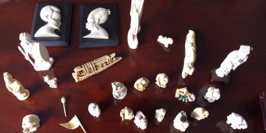 Tientallen ivoren handgesneden sculpturen in beslag genomen door NVWA