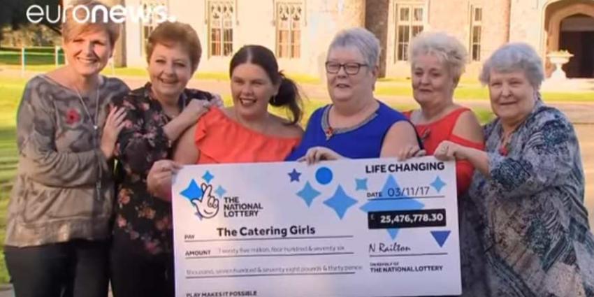 Zes vrouwen uit Wales winnen miljoenen in jackpot