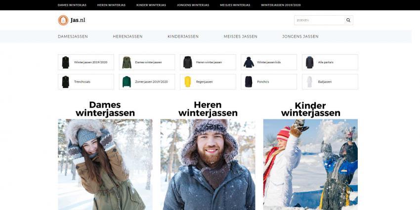 Winterjassen.com wordt Jas.nl