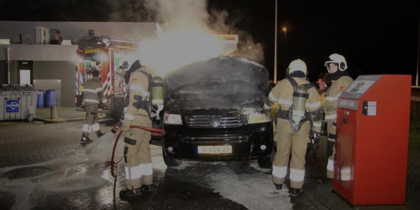 Brandweer blust busje