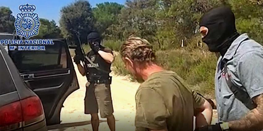 Politie geeft beelden vrij arrestatie Jos B. in Spanje