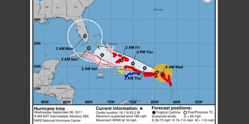 Eerste videobeelden schade door orkaan Irma