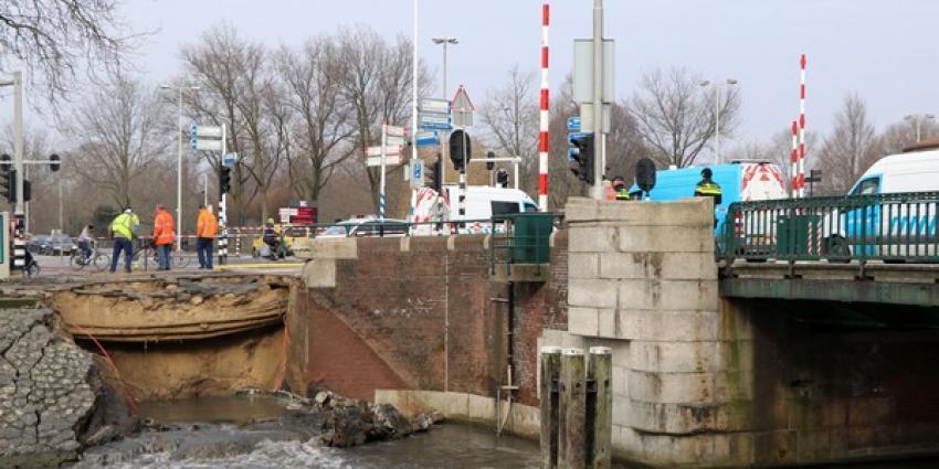 Deel van Amsterdamse kademuur ingestort