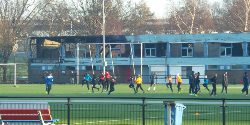 Grote brand in voetbalkantine FC Amsterdam