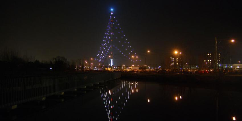 Lichten Grootste Kerstboom kunnen niet branden door blikseminslag