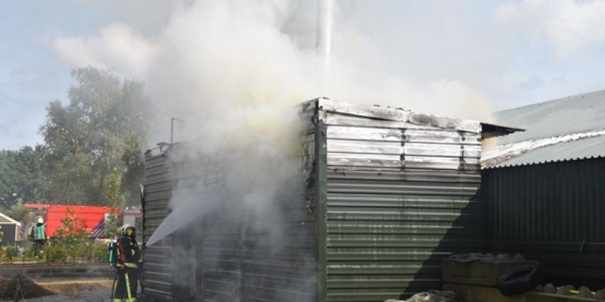Veel schade bij brand Eursinge