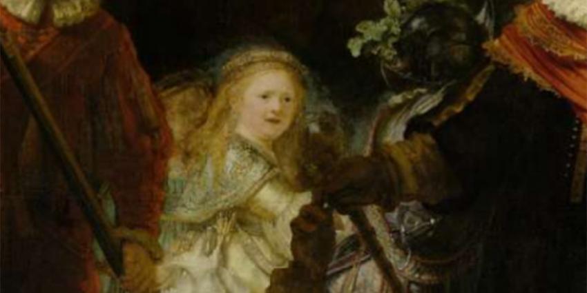Foto van kind op schilderij De Nachtwacht | Rijksmuseum