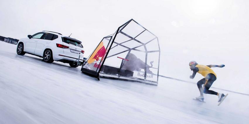 Kjeld Nuis met 93 km/h snelste ter wereld op schaatsen