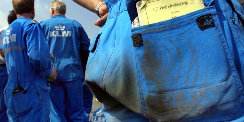 Grondpersoneel van de KLM gaan vanaf maandag staken