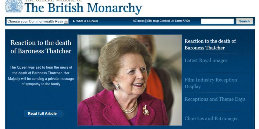 Margaret Thatcher (87) overleden