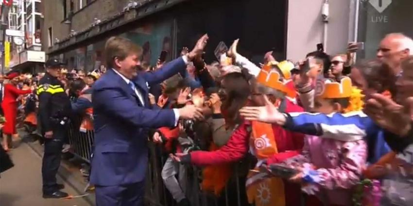 Koning viert 51-ste verjaardag in Groningen
