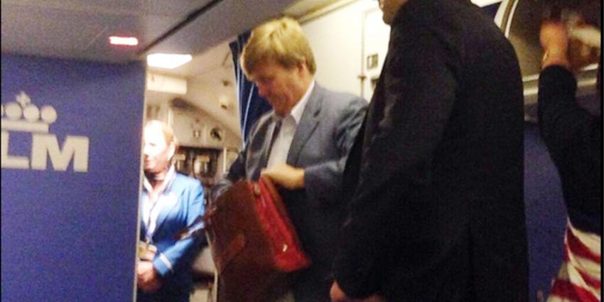 KLM vlucht, koning