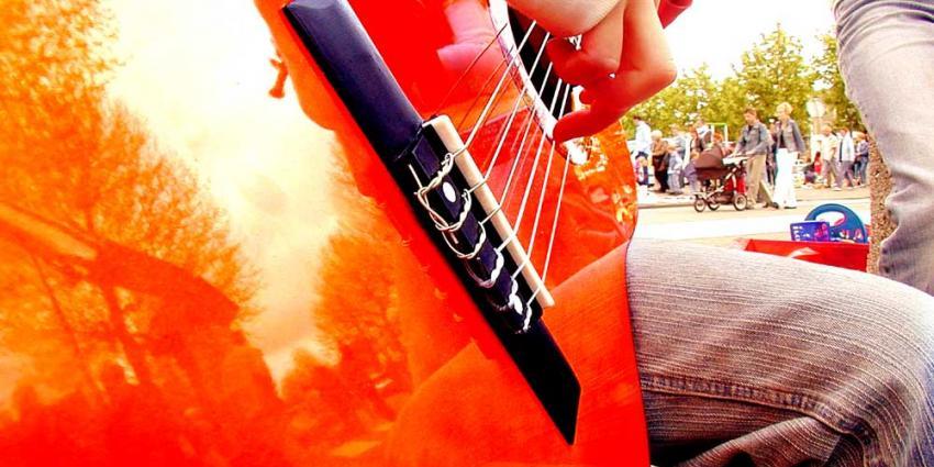 Foto van gitaar vrijmarkt Koningsdag Amstelveen | EHF en Martin Seegers