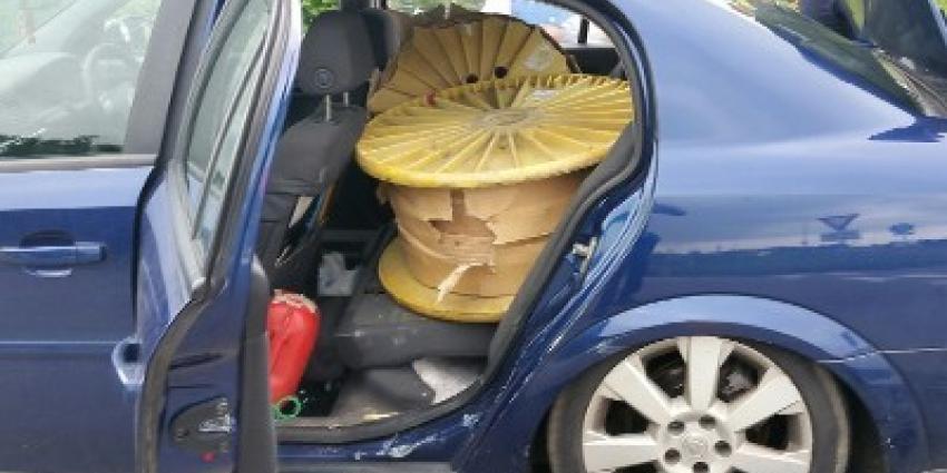 Drie Roemenen gepakt met 1000 kilo gestolen koper