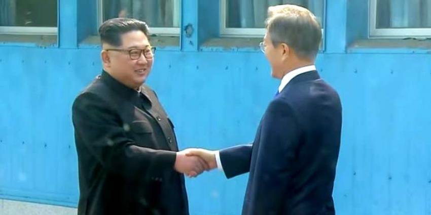 Historische ontmoeting tussen leiders Noord- en Zuid-Korea