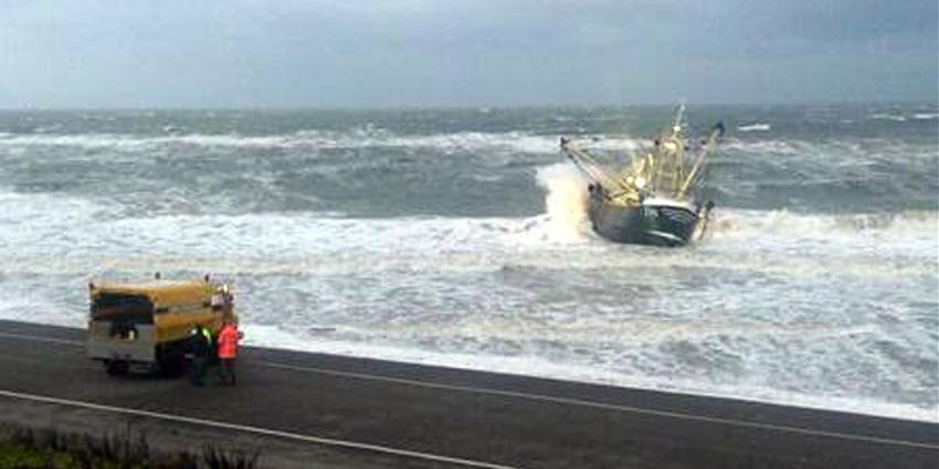 foto van gestrand schip   Kustwacht