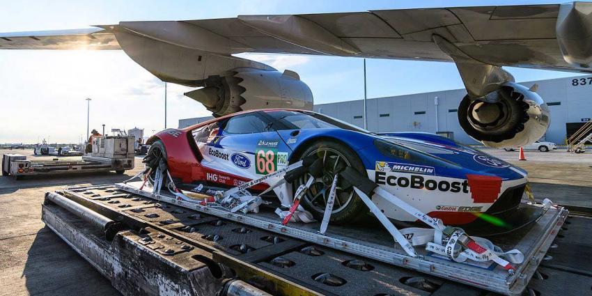 Ford GT's maken zich op voor Le Mans