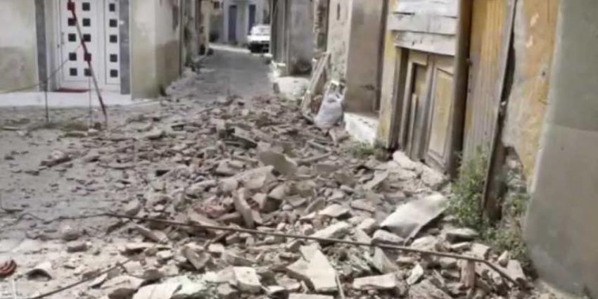 Aardbeving treft west-Turkije en het Griekse eiland Lesbos