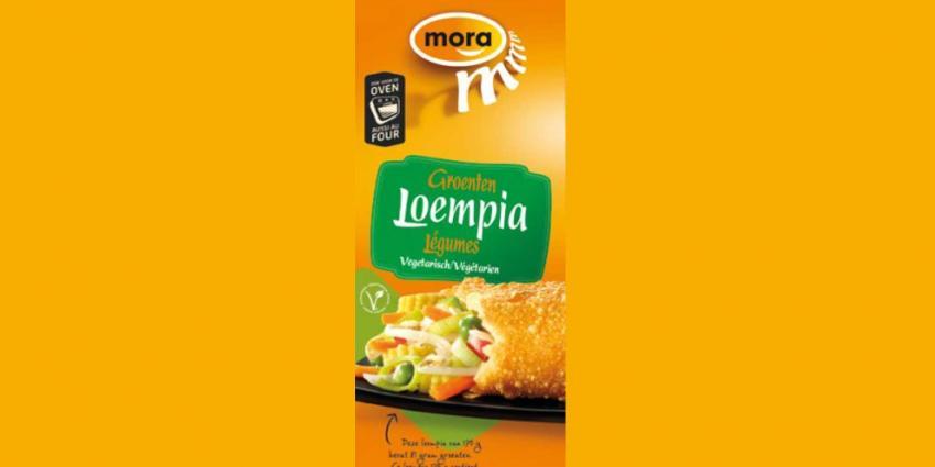 Vlees in Mora Groentenloempia's door verpakkingsfout