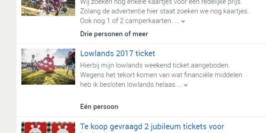 Groep vriendinnen pakken verkoper valse kaarten Lowlands terug
