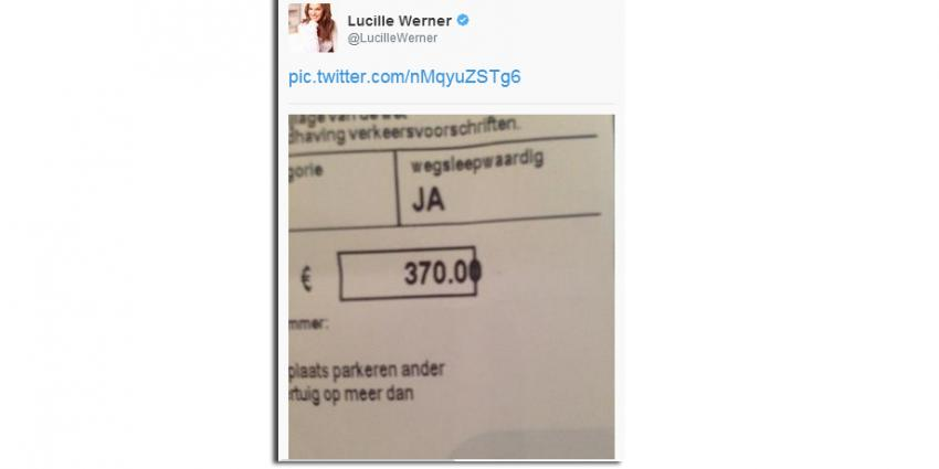 Lucile Werner zeurt om parkeerboete