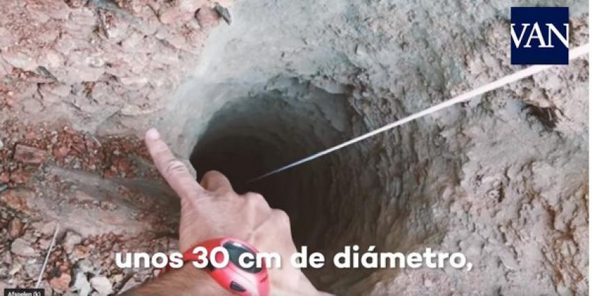 Spaanse peuter valt in 110 meter diepe put