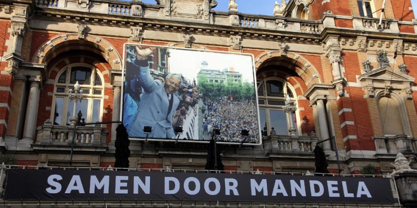 Foto van spandoek Mandela Stadsschouwburg A'dam | BON