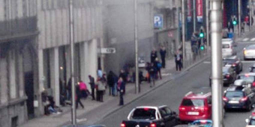 Bomaanslag op metrostation Brussel