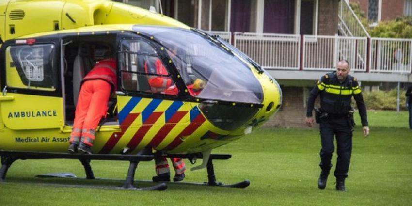 Inzet traumahelikopter voor medische noodsituatie