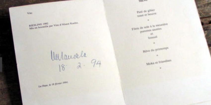 Menukaart Tweede Kamer geveild voor 3.000 euro