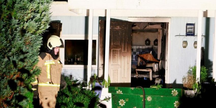 Brand in chalet Midlaren