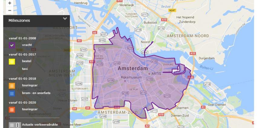 Amsterdam plaatst kentekencheckers voor milieuzone bestelauto's
