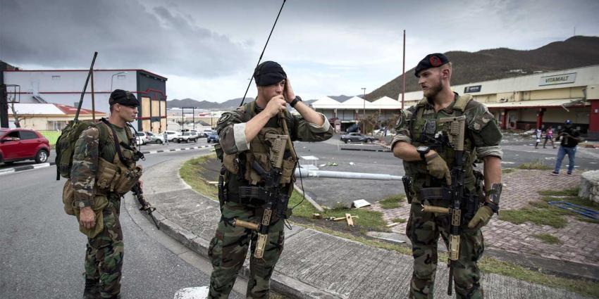 Zaterdag komen 150 eerste militairen terug uit Sint Maarten