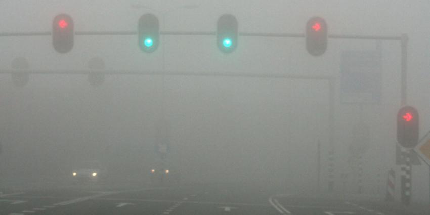 Code geel voor mist westen, noorden en midden van het land