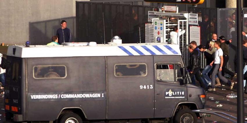 mobiele, eenheid, politie, voetbal