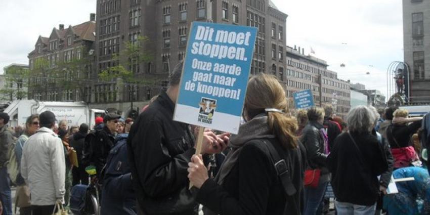 Foto van demonstratie tegen Monsanto | M. van Harten