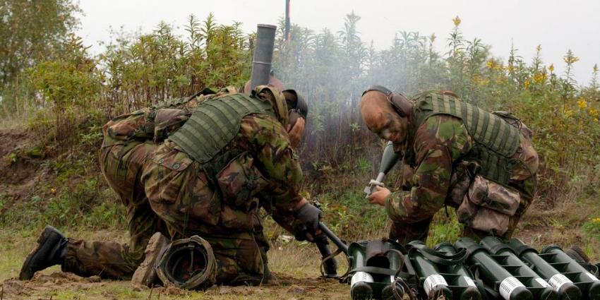 Gebruik van 60mm-mortieren opgeschort