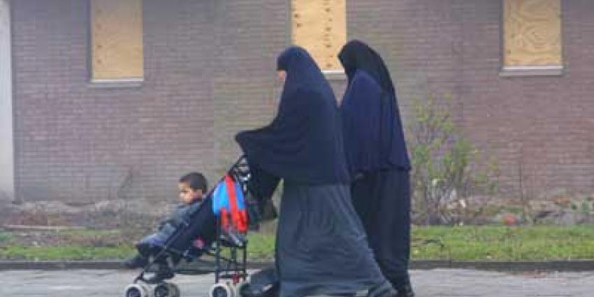 Foto van moslim vrouwen en kind | Archief EHF