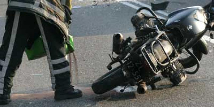 Foto van motor ongeval brandweerman | Archief EHF
