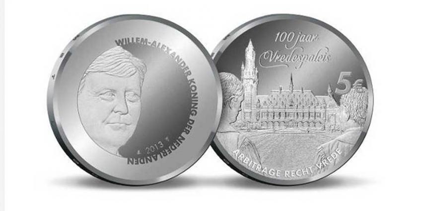 Foto van Vredespaleis Vijfje munt | Rijksmunt