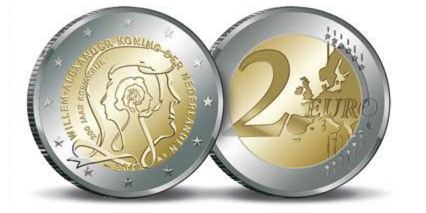 foto van 2 euromunt