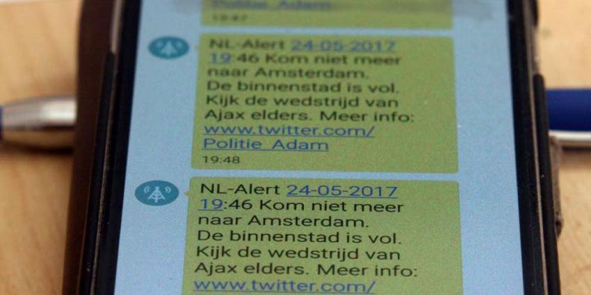 Politie: Versturen NL-Alert was nodig