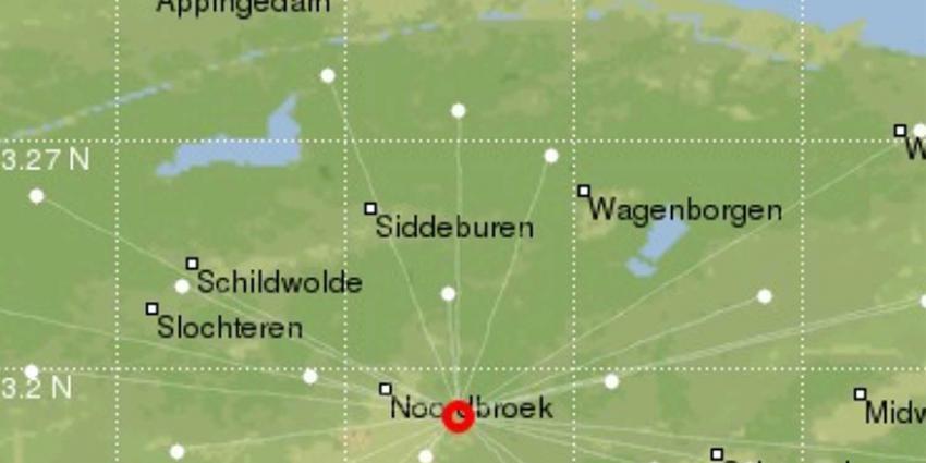 Lichte aardbeving in Groningse Noordbroek