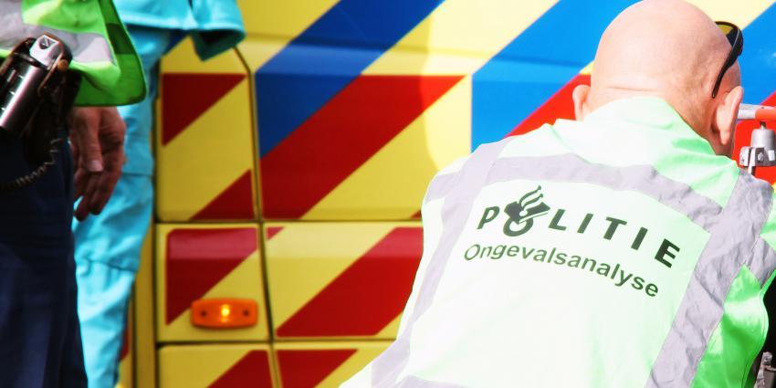 Auto in brand na ongeval in Nieuw Namen