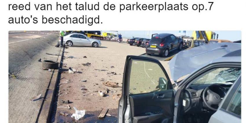 Maserati-rijder richt grote ravage aan in Zandvoort