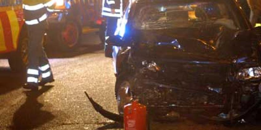 Foto van ongeval op snelweg in donker | Archief EHF