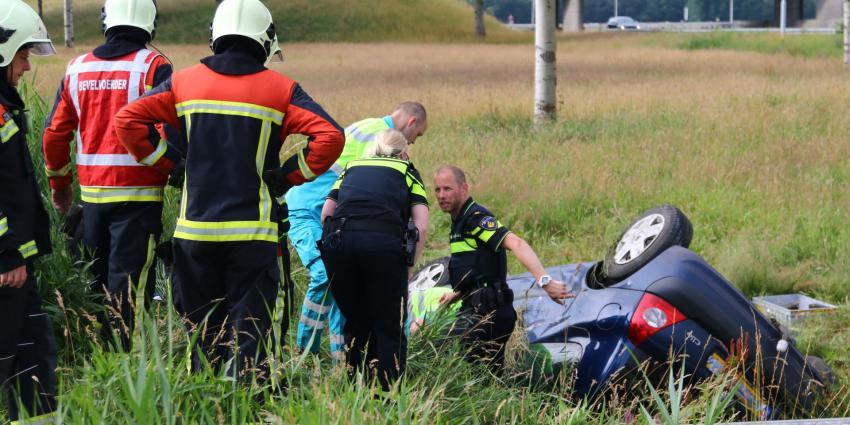 Gewonde bij ongeval N34 bij De Punt