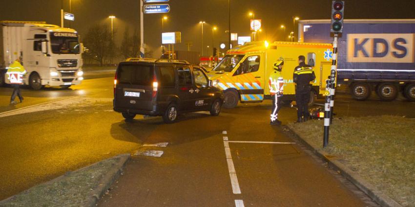 Scooterrijder gewond na aanrijding in Vlaardingen